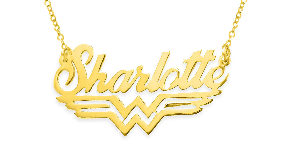 Personalized wonder woman Name Necklace