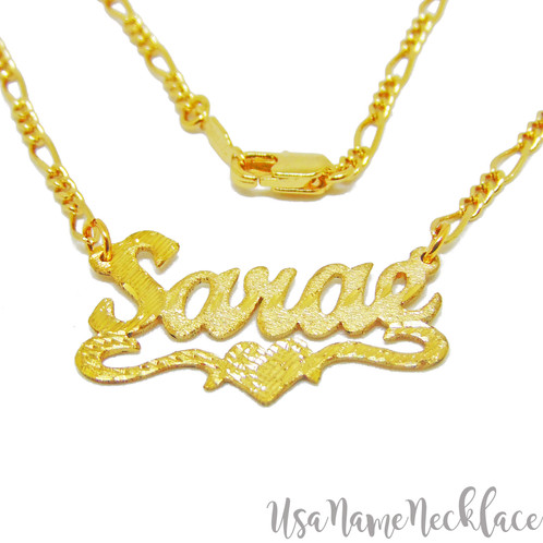 Personalized 24k gold name necklace usa name necklace name jewelry usa name necklace personalized name necklace gold name plate necklace united states name aloadofball Gallery