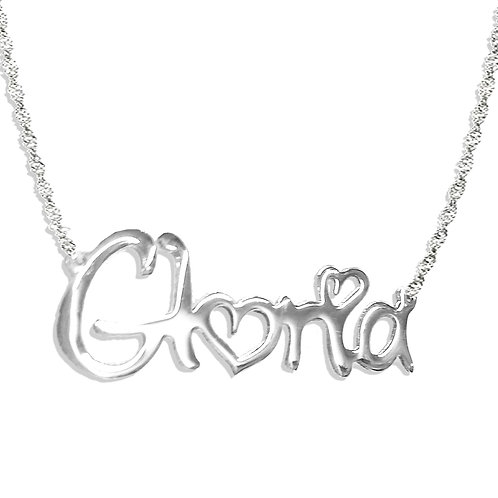 heart name necklace, heart nameplate, usa name necklace, custom jewelry, personalized name necklaces