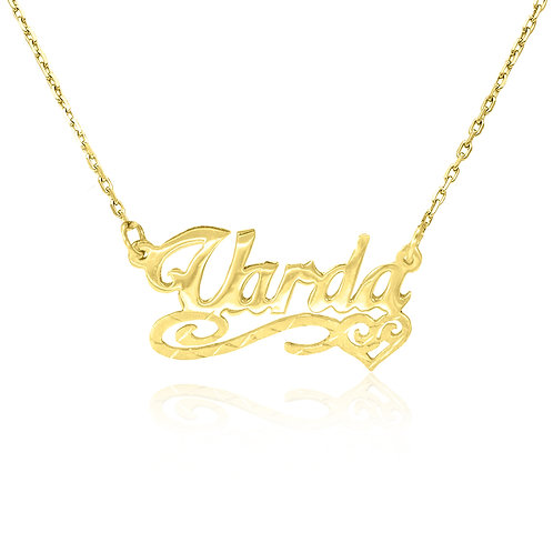 Personalized Name Necklace 14K gold
