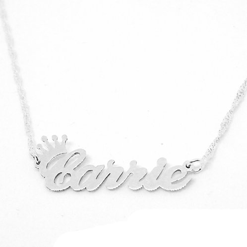 Custom Crown Name Necklace | united states Name Necklace | Crown Name Necklace , Custom Jewelry , Silver Name Necklace , Usa
