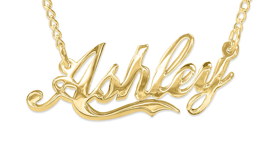 Personalized 14K Solid Gold Name Necklace