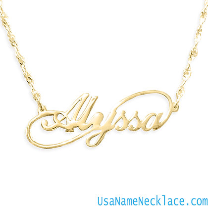 Usanamenecklace, Infinity Name Necklace