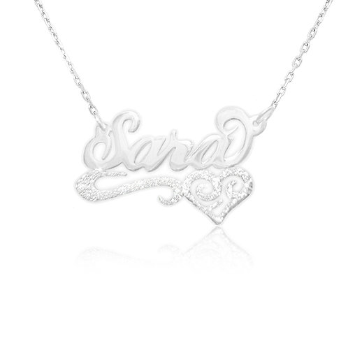 United States Name necklace | Sara Name Necklace | Silver Name Necklace