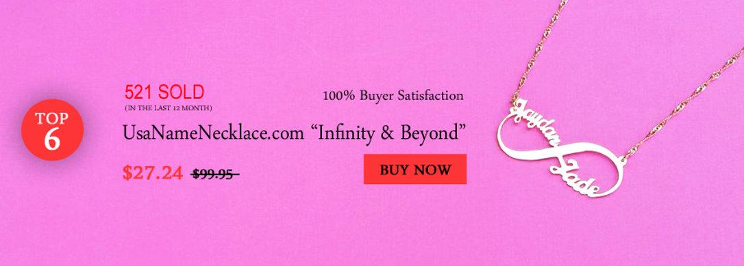 UsaNameNecklace.com , Usa Name Necklace ,infinity Name Necklace , Custom name Necklace , United States Name Necklace
