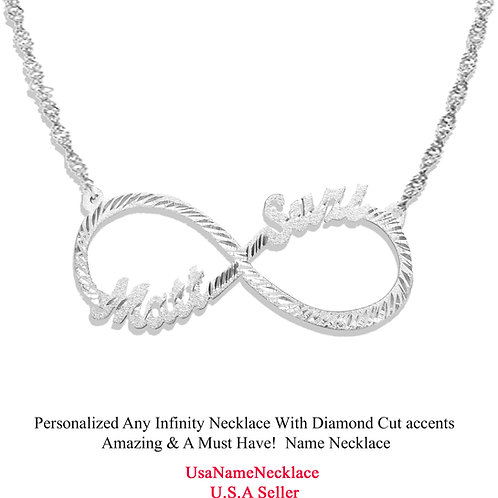 Usa Name Necklace | Infinity name necklace | Custom Infinity Necklace| united states name necklace