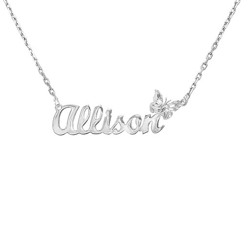 Personalized Butterfly Name necklace | Custom Name Necklace | UsaNameNecklace com