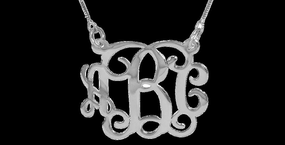 UsaNameNecklace.com   Monogram jewelry   Personailzed Monogram necklace
