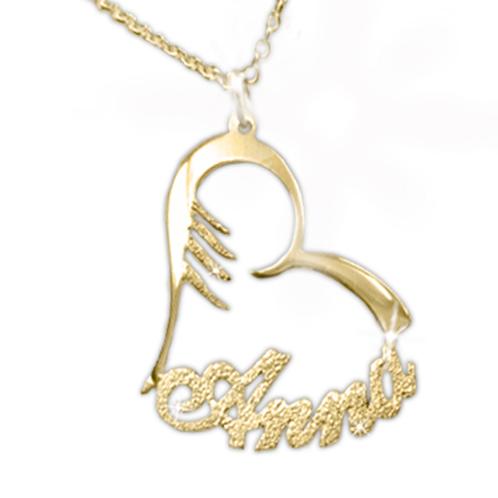 99028fbdf Personalized 14K Gold Heart Name necklace usanamenecklace.com