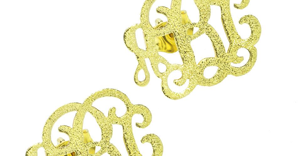Monogram Stud Earrings | Custom rearrings | UsaNameNecklace.com