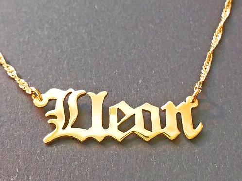 UsaNameNecklace , Usa Name Necklace , Name Necklace , Gold Name Necklace , Old English Name Necklace , United States Name Nec