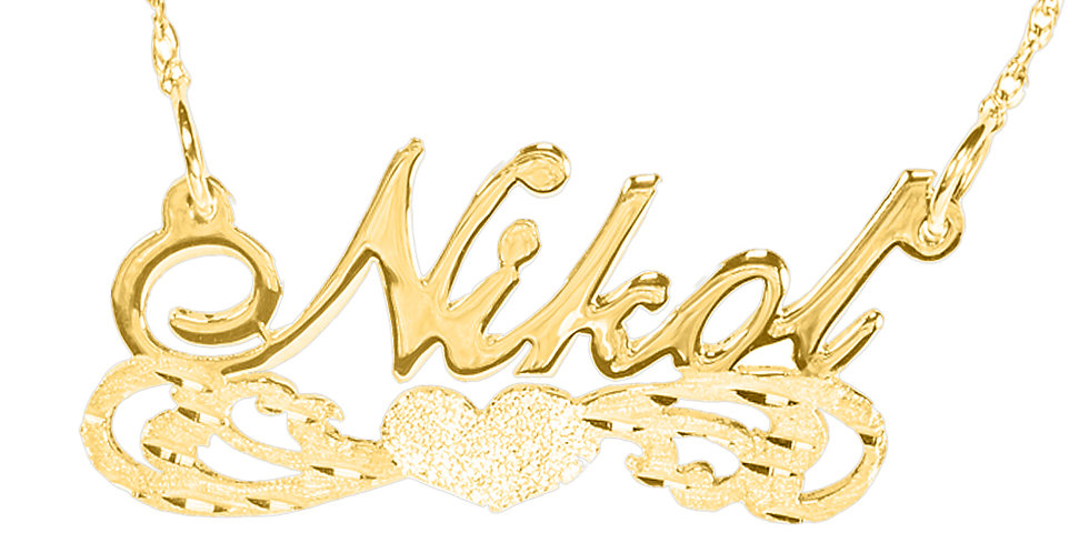Personalized Name Necklace 18K Gold Plated