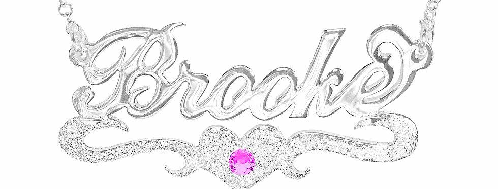 Usa NAME necklace  | Silver Name Necklace , Custom Name Necklace