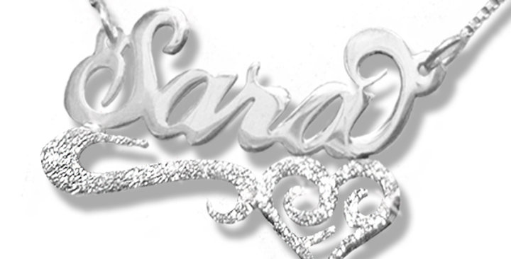 United States Name necklace   Sara Name Necklace   Silver Name Necklace