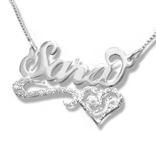 d507e6d64a United States Name necklace | Sara Name Necklace | Silver Name Necklace