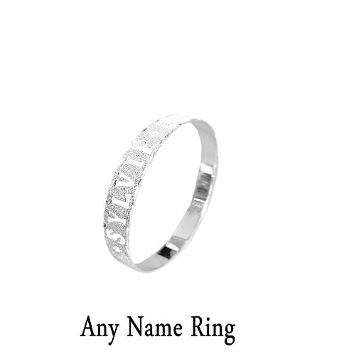 USANAMENECKLACE, Name Ring, Name Ring In USA , Personalized Name Ring