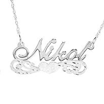 UsaNameNecklace, Sterling silver name necklace