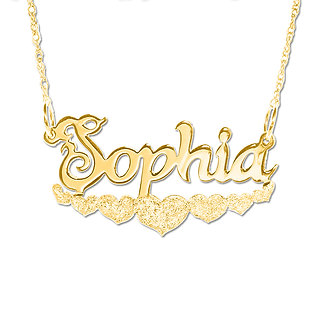 3fb492c43225f Usa Name Necklace   18K Gold PlateName Necklace   Custom Name Necklace