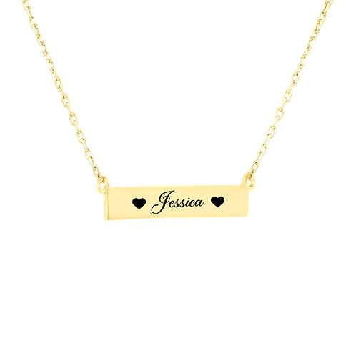 USA Name Necklace | Personalized bar name Necklaces , mom name necklace