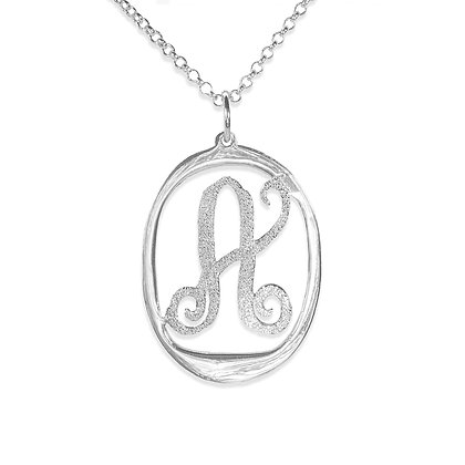 Personalized Sterling Silver 0.925 Initial Necklace