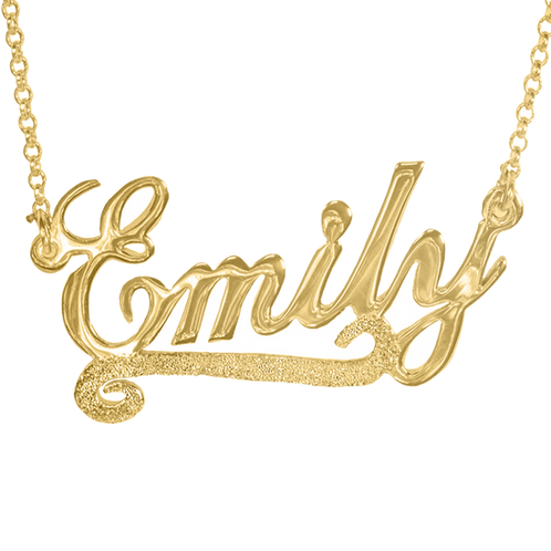 228b0afcd Personalized 18K Gold plated - Name Necklace Sparkling Underline