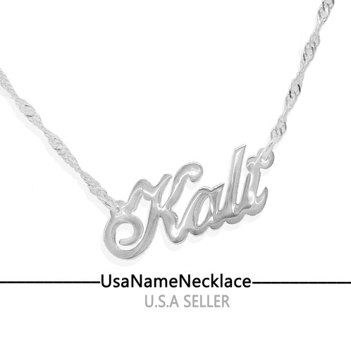 Personalized name necklace united states name necklace custom custom any name necklace in sterling silver 925 aloadofball Gallery