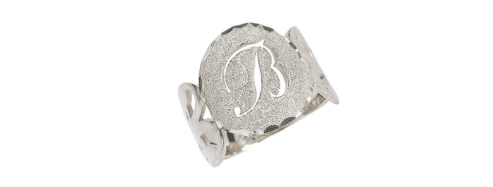 Personalized Initiel Ring Sterling Silver pure 0.925