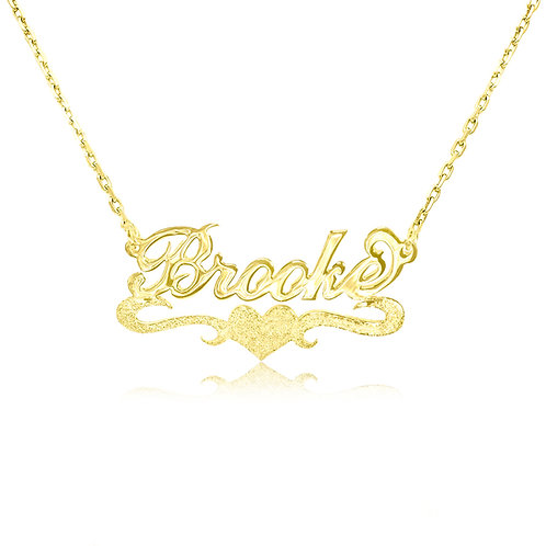 USA Name Necklace Your place to buy Gold Name Necklace, heart Name Necklace  or any custom jewelry gift shop today made in u
