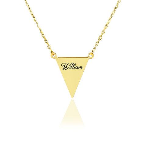 USA Name Necklace, triangle name necklace, Custom jewelry