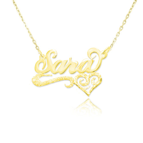 UsaNameNecklace, Usa Name Necklace, Name Necklace , Gold Name Necklace , Custom Jewelry .
