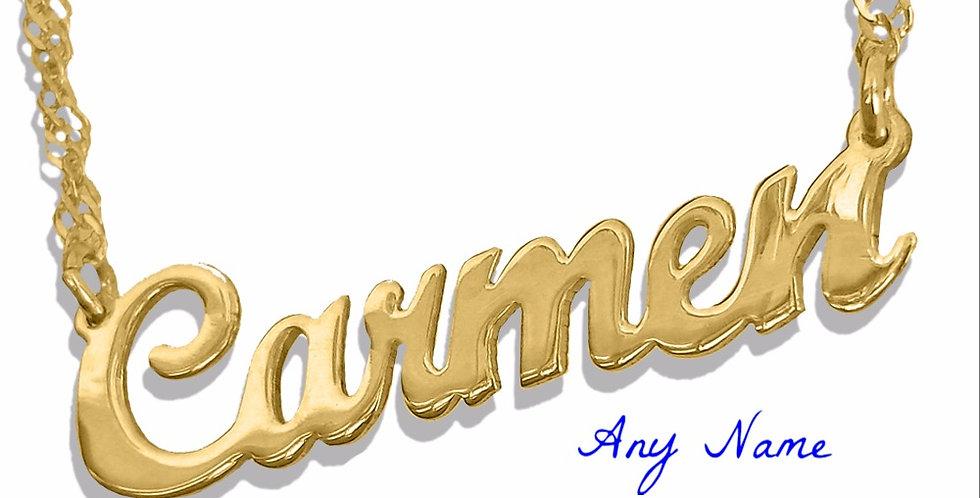USANameNecklace.com, Personalized Name Necklace, Usa Name Necklace , Custom gold Necklace.