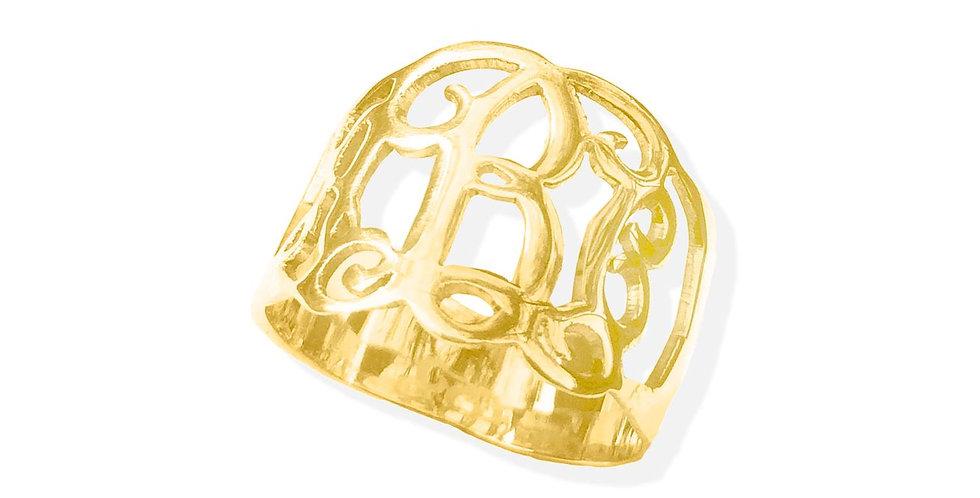 monogram ring . custom rings , UsaNameNecklace.com , USA name necklace
