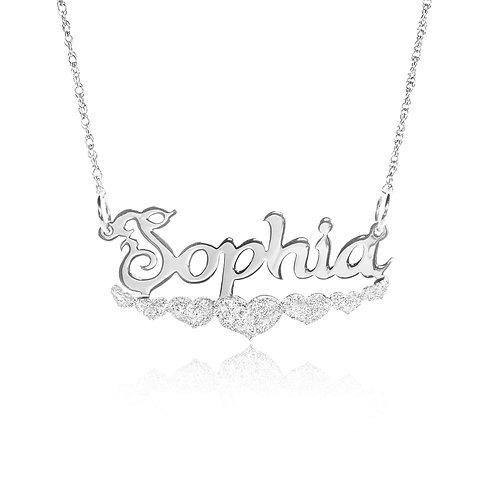 Personalized heart  Name necklace | Custom Name Necklace | UsaNameNecklace com