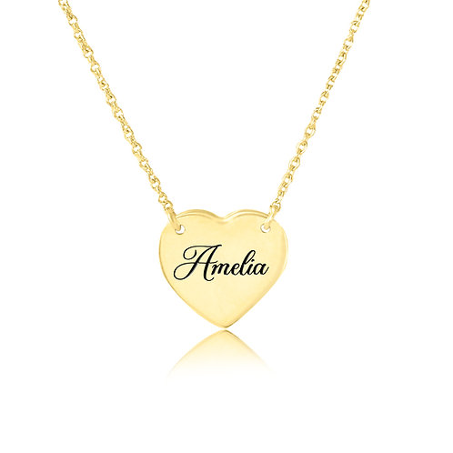 USA Name Necklace | Personalized HEARTname Necklaces , mom name necklace