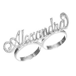 Personalized rings, usa name necklace