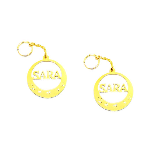 Custom Jewelry , USANAMENECKLACE , Name Earring