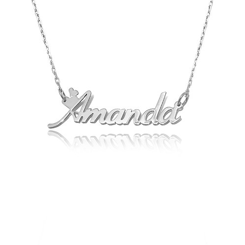 Custom Silver 0.925 Love Name Necklace