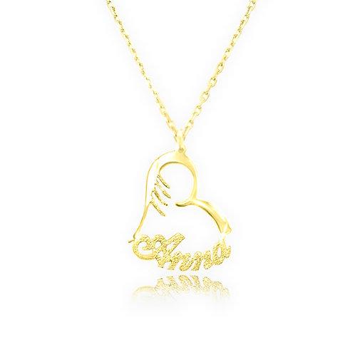 USA Name Necklace | HEART Name necklace, name necklace