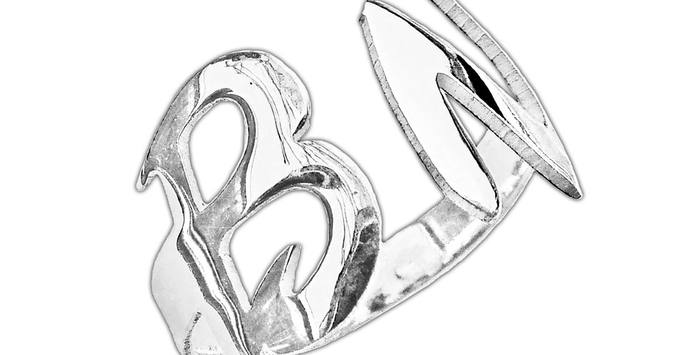 Two letter ring , love ring , Usa name necklace , custom jewelry, couples jewelry