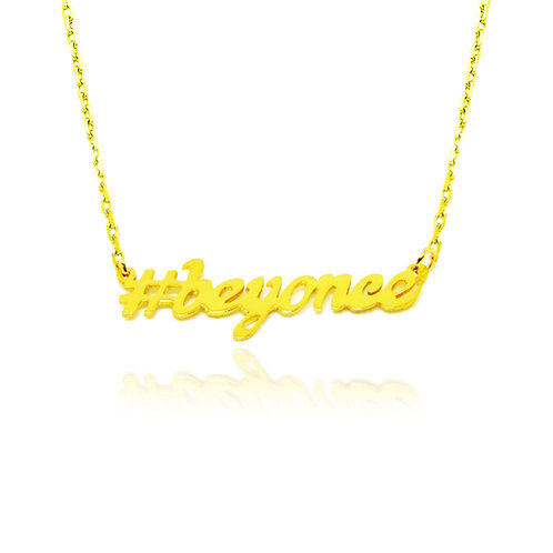 USA NAME NECKLACE | Personalized Hashtag Name Necklace, name necklaces, gold nameplate necklace