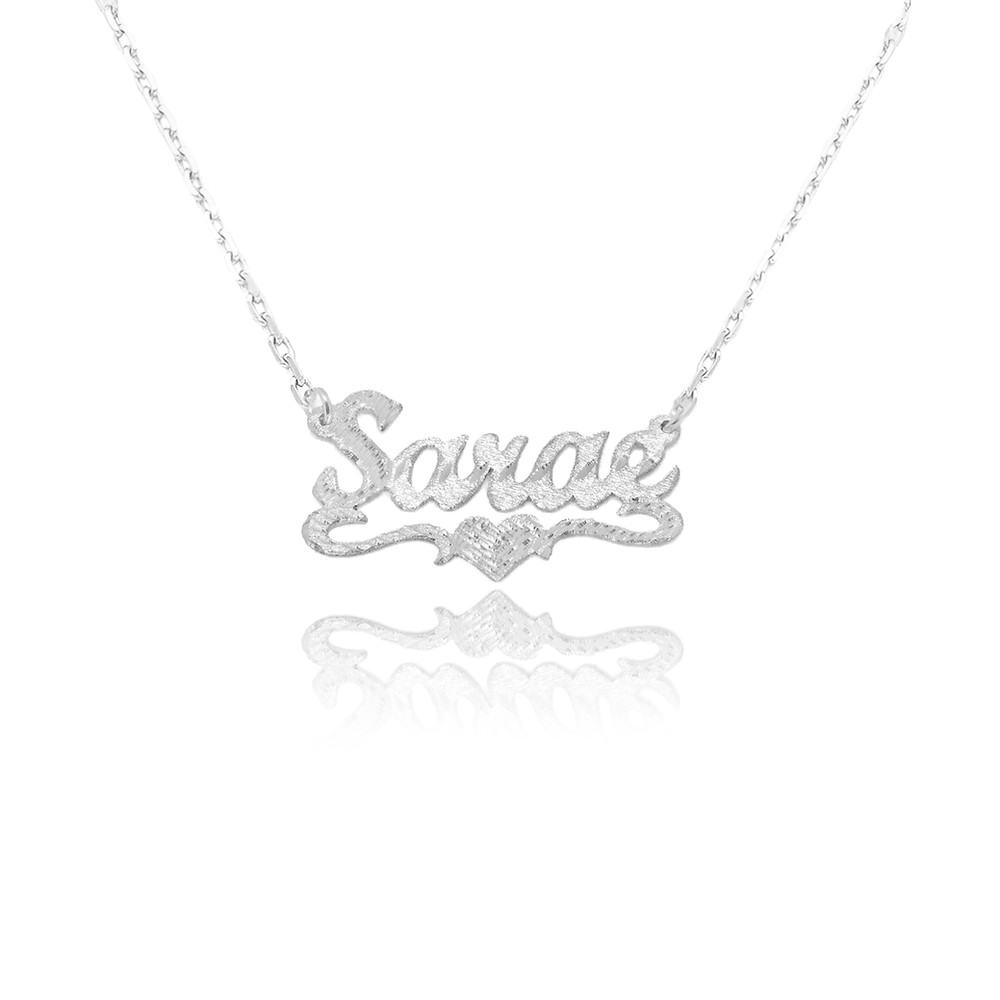 Personalized name necklace, usa name necklace, custom any name necklace in silver or gold
