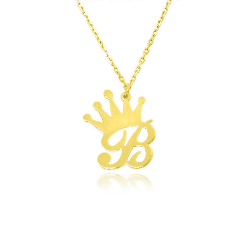 sCustom Jewelry | USA Name Necklace. Crown necklace, personalized necklace