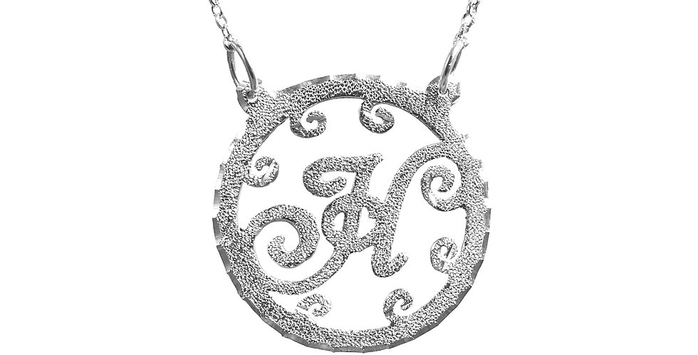 Personalized Sterling Silver Initiel Necklace , UsaNameNecklace.com