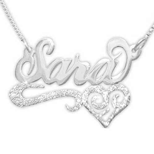 705e246ada United States Name necklace | Sara Name Necklace | Silver Name Necklac