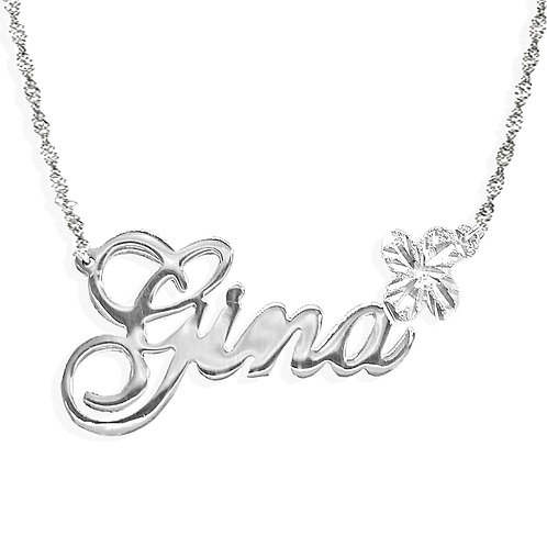 Personalized Flower Name Necklace
