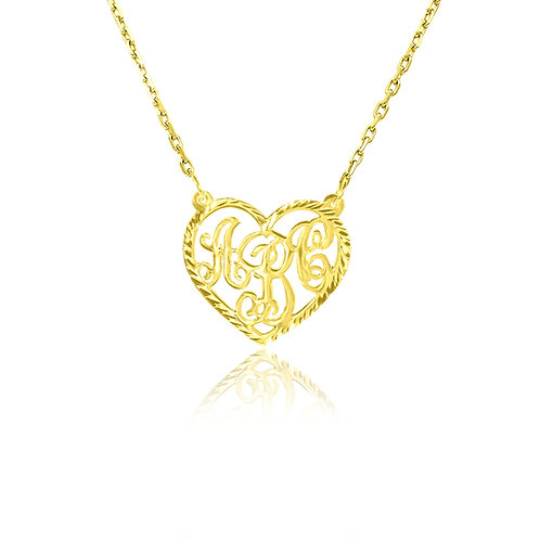 USA Name Necklace | heart initial necklace, personalized necklace