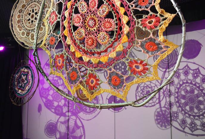 Norfolk Makers' Festival 2018, Crochet installation, Photo by Zoe Ford