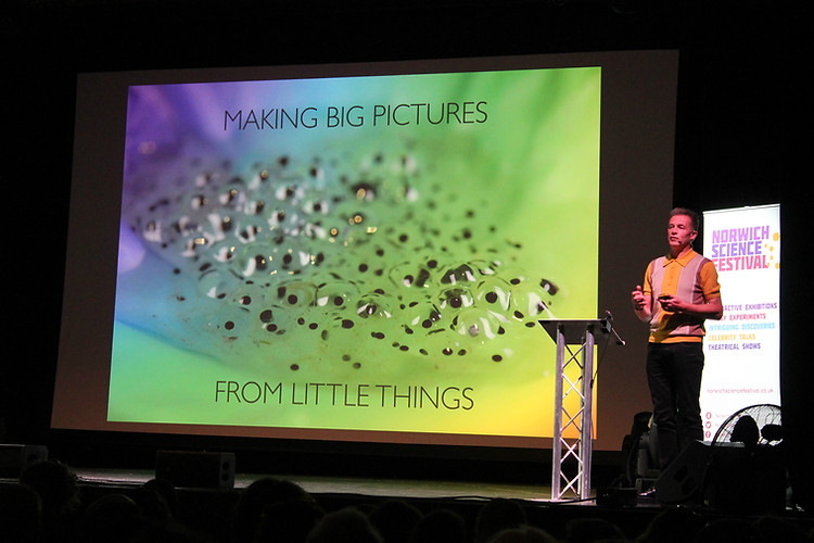 Chris Packham at Norwich Science Festival, Photo by Zoe Ford