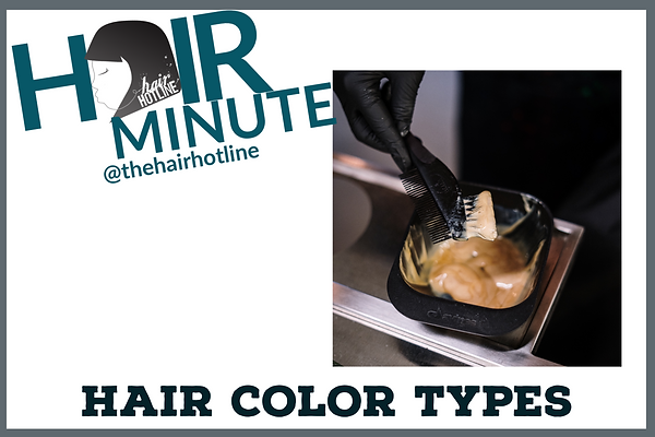 hair minute hair color types