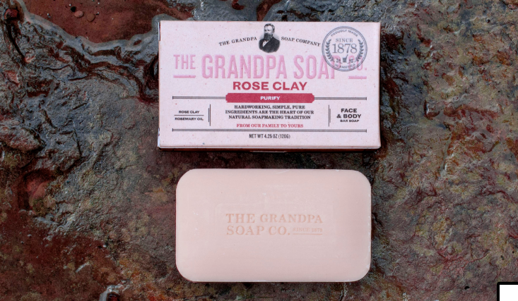 Rose Clay Bar Soap, 1.35oz